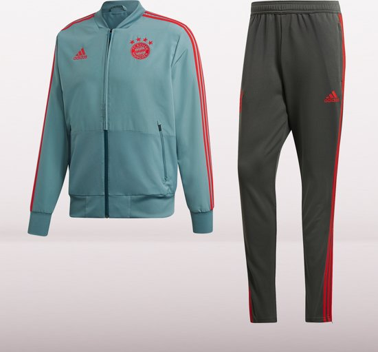 adidas FC Bayern Munchen Trainingspak Heren - Groen - Maat S