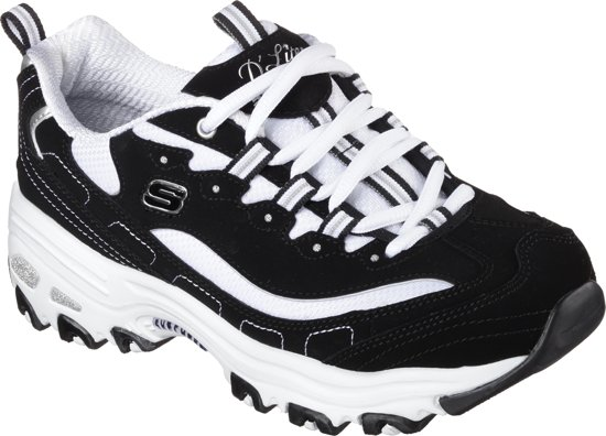 Sneakers White Dames D'lites biggest Black Fan Maat41 Skechers STtPx
