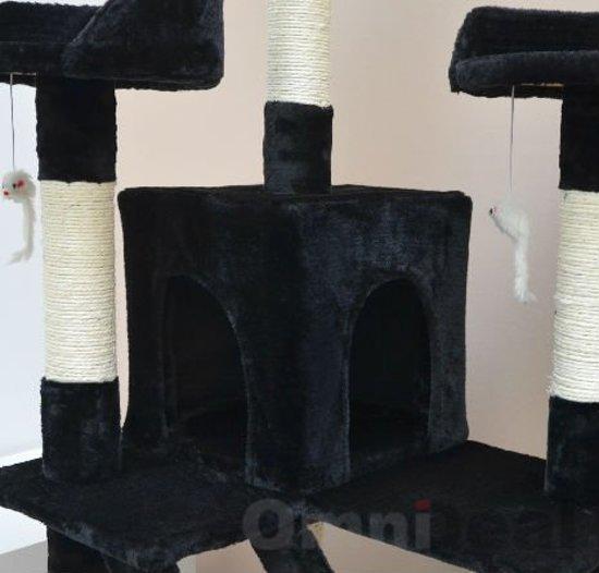 krabpaal zwart 180 cm hoog