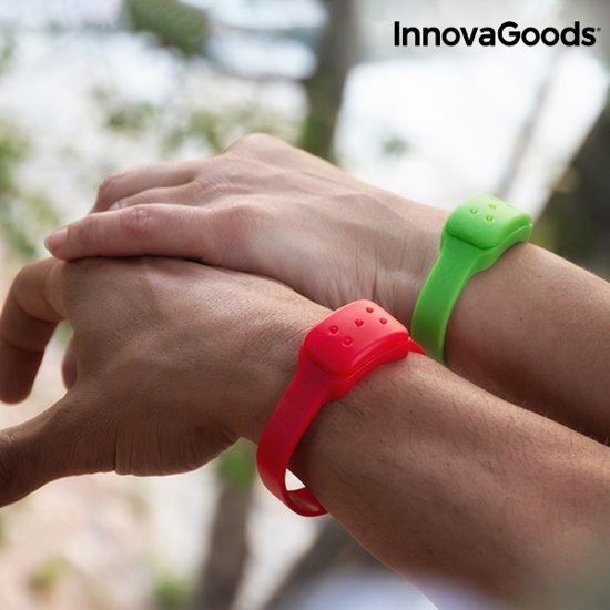 InnovaGoods Anti-Muggenarmband met Citronella - Groen