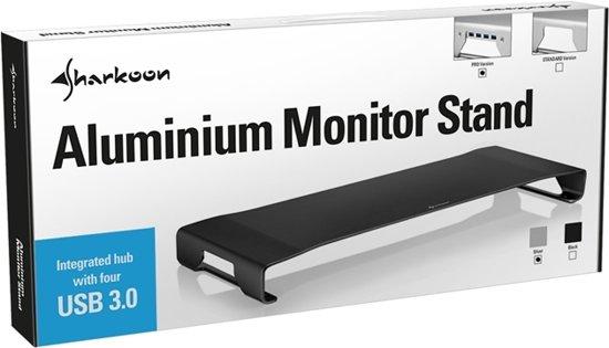 Sharkoon Aluminium Monitor Stand PRO Vrijstaand Zwart