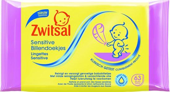 2 x 63 st 6 x Zwitsal Sensitive Baby-Feuchtt/ücher