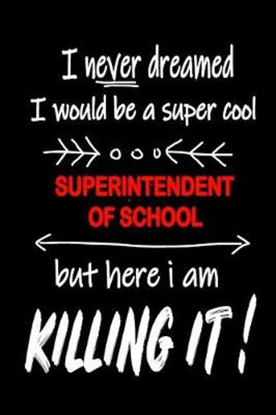 I Never Dreamed I Would Be a Super Cool Superintendent of School But Here I Am Killing It!