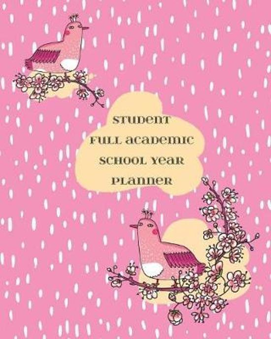 Student Full Academic School Year Planner: With Current Year Calendar from August - July: Includes Exams and After School Activities - Japanese Birds