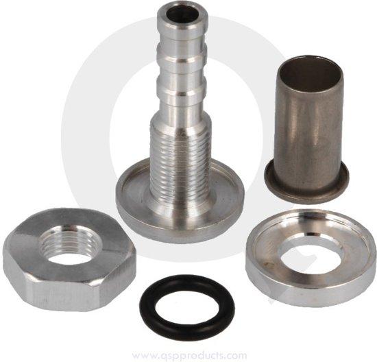 Zelf afsluitbare fitting 8 mm aluminium