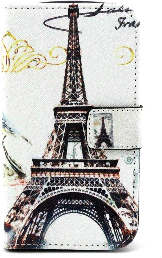 Alcatel One Touch Pop C5 Hoesje Eiffeltoren met Opbergvakjes in Keulse Kamp