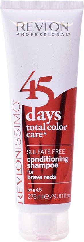 MULTI BUNDEL 3 stuks Revlon Revlonissimo 45 Days Conditioning Shampoo Brave Reds 275ml