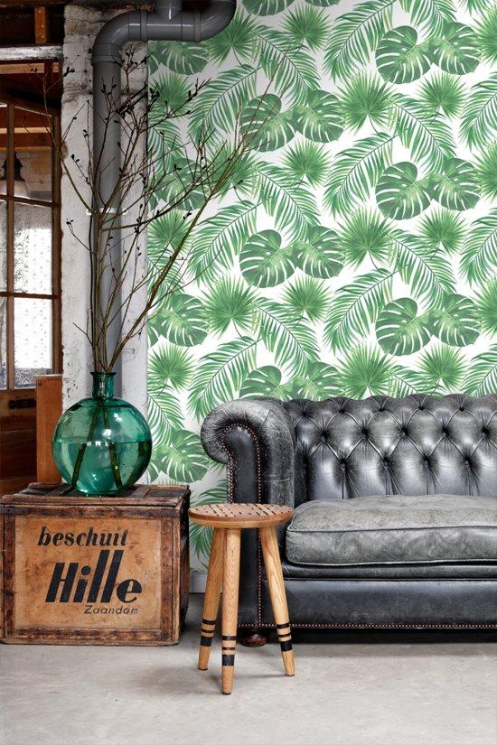 ESTA home behang tropische bladeren groen