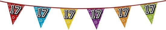 12 stuks: Holografische Vlaggenlijn - 17 - 8m
