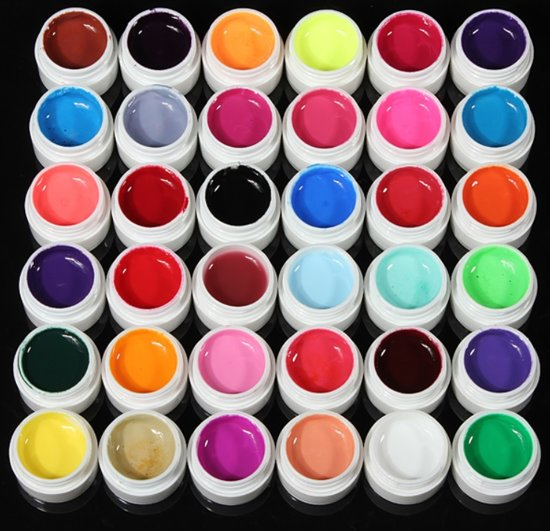 UV Gel Lak Builder - Nagel Decoratie Set Gel Acryl - Multicolor - 36 Stuks