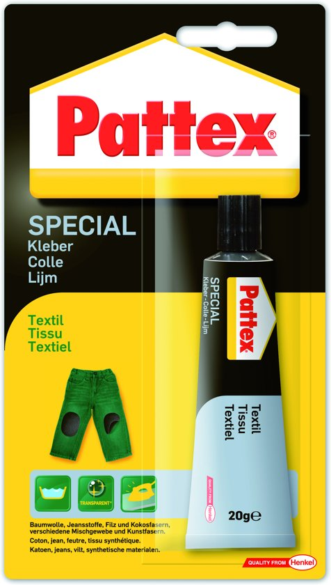 Pattex Made at Home textiellijm - tube 20 gr. - transparant