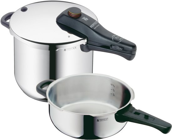 wmf perfect snelkookpan set van 6 5 liter 3 liter