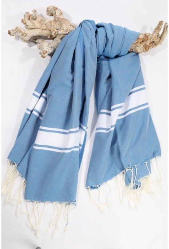 3a6f561e890 bol.com | Call it Fouta - Hamamdoek XL Blue des Mers - 160 x 200 cm