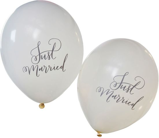 Ginger Ray Boho 'Just Married' huwelijk ballon - wit - Set-10 Valentinaa