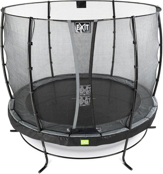 EXIT Elegant trampoline ø253cm met veiligheidsnet Economy - zwart