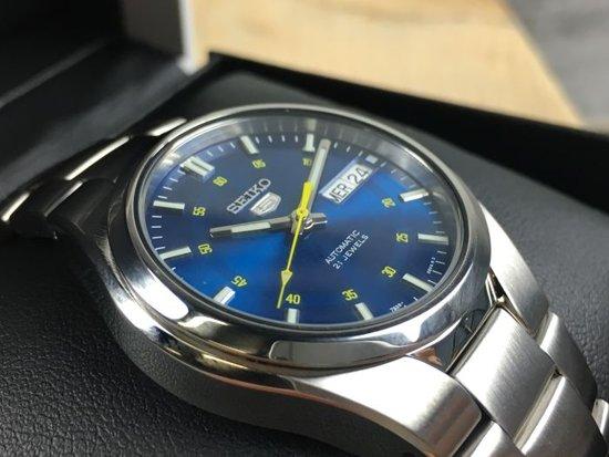 best loved 307c6 16b6a Prachtige automatishe seiko horloge -Blauw met datum. SNK615K1