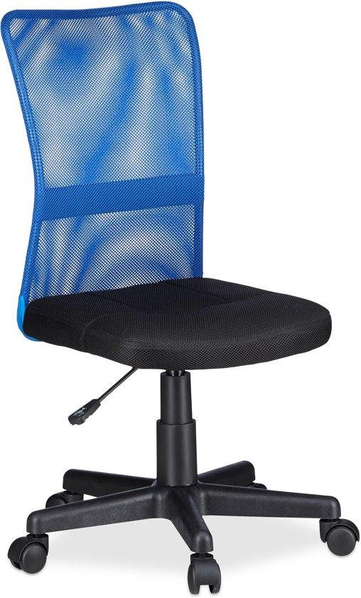 Bureaustoel Kind Blauw.Bol Com Relaxdays Bureaustoel Voor Kinderen Computerstoel