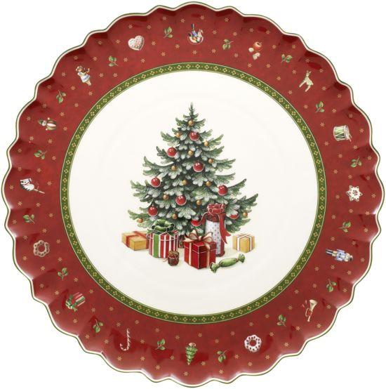 Villeroy & Boch Toy's Delight Taartschotel Kerstboom Kerst - Rood/wit