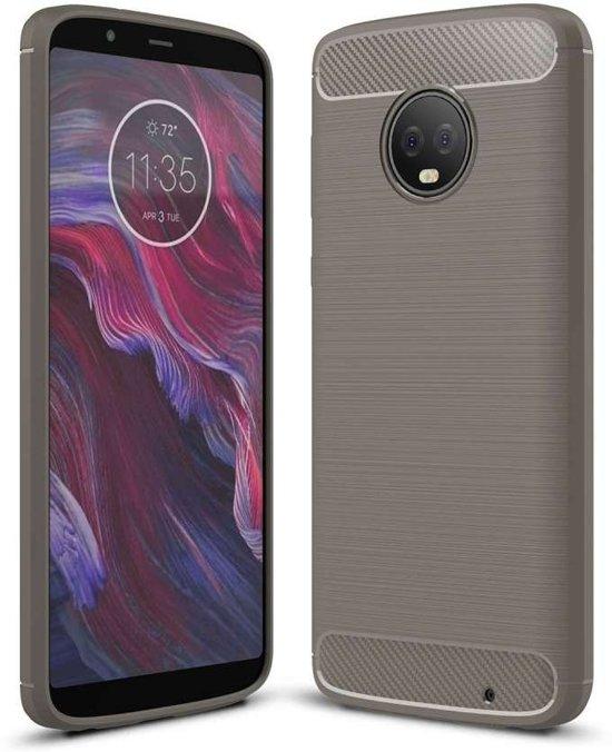 Motorola Moto G6 Plus hoesje - Rugged TPU Case - grijs