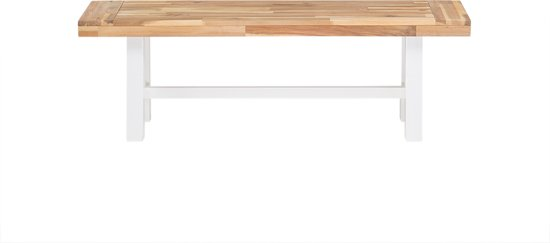 Beliani Scania Tuinbank Licht houtkleur Hout 140 cm