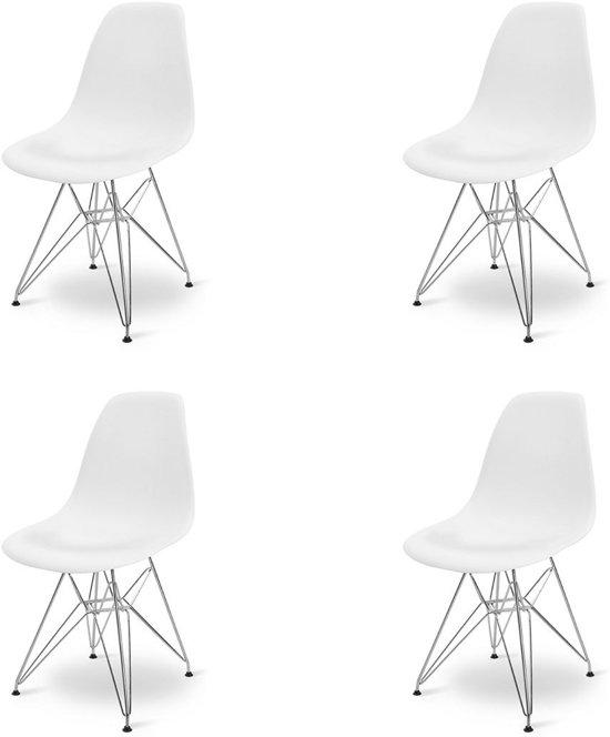 Eames dsr stoel replica kuipstoel set van 4 for Eames kuipstoel