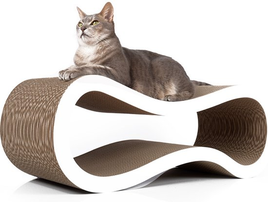 "Cat-On® kartonnen krabmeubel ""SINGHA"" L- 000X WIT"