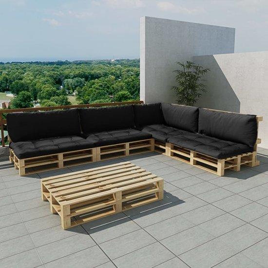 Bekend bol.com   Houten pallet loungeset voor buiten met 15 delen + 9 ZH43