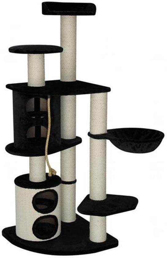 Topmast Krabpaal Heavy Infinity DeLuxe Zwart voor Grote Katten  70 * 70 * 183 cm
