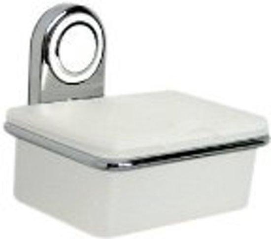 haceka la ronde vochtige tissuehouder chroom met wit. Black Bedroom Furniture Sets. Home Design Ideas