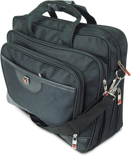 7a10d71fe47 bol.com | Zwarte Polyester Laptoptas - 15.3 inch - Businesstas