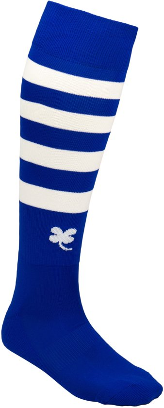Robey Ring Socks - Voetbalsokken - Royal Blue/White Stripe - Maat Junior