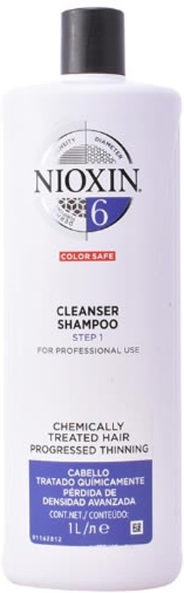 MULTI BUNDEL 2 stuks Nioxin System 6 Shampoo Volumizing Very Weak Fine Hair Chemically Treated Hair 1000ml