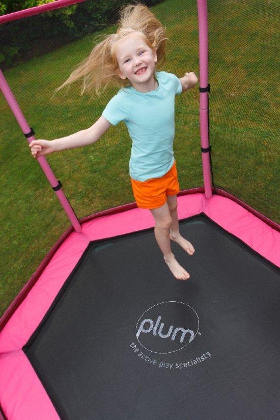 Trampoline Plum 7ft junior met net roze en paars