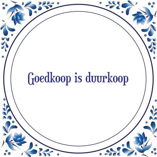 bol.com | Wanddecoratie | Spreuktegel Delfts blauw | Goedkoop is ...