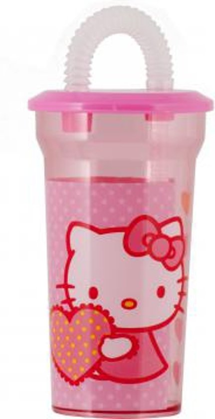 Hello Kitty Dream beker met rietje