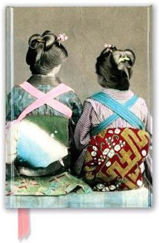Japanese Dancers Wearing Traditional Kimonos (Foiled Journal)