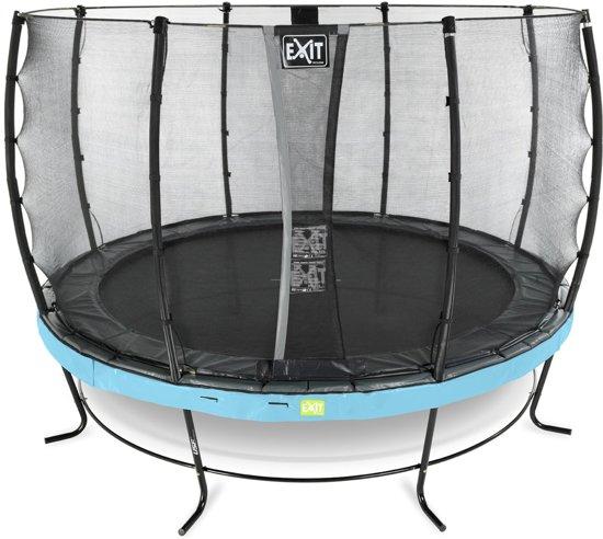 EXIT Elegant trampoline ø427cm met veiligheidsnet Economy - blauw