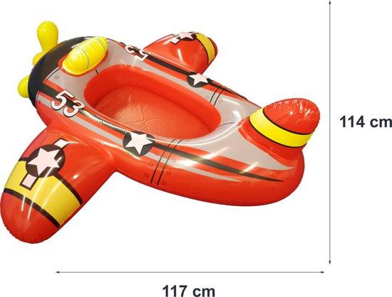 Opblaasbaar Vliegtuig voor op het Strand of Zwembad – 119x114x47cm | Waterspeelgoed | Zwembad Opblaasfiguur | Luchtbed