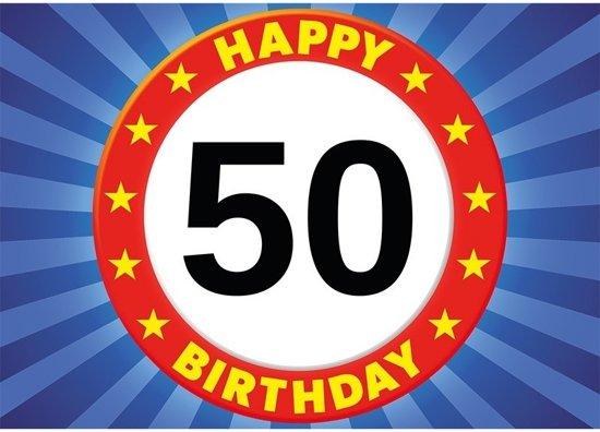 Uitzonderlijk bol.com   50 jaar verjaardagskaart/ansichtkaart/wenskaart Happy #FI09