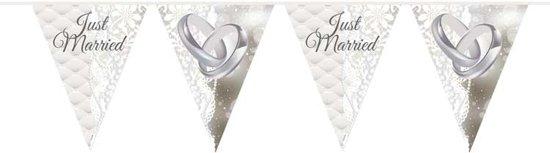 Just Married Bruiloft Vlaggenlijn - 10 meter