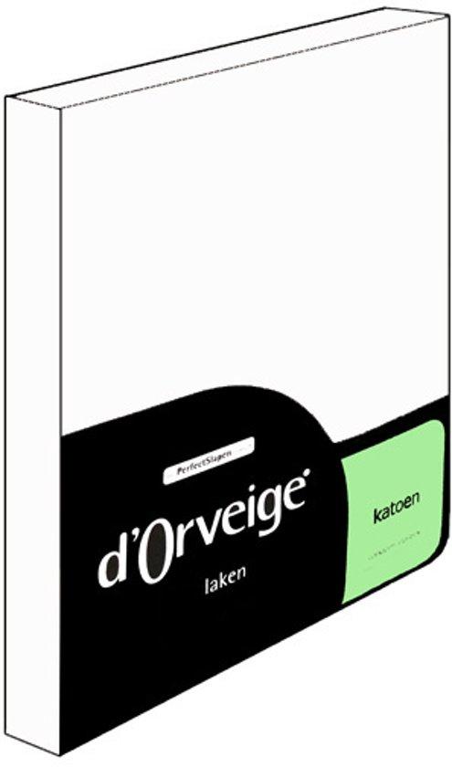 D'Orveige Laken Katoen - Eenpersoons - 160x270 cm - Wit