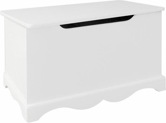 Witte Houten Box.Witte Houten Speelgoedkist Tf5302