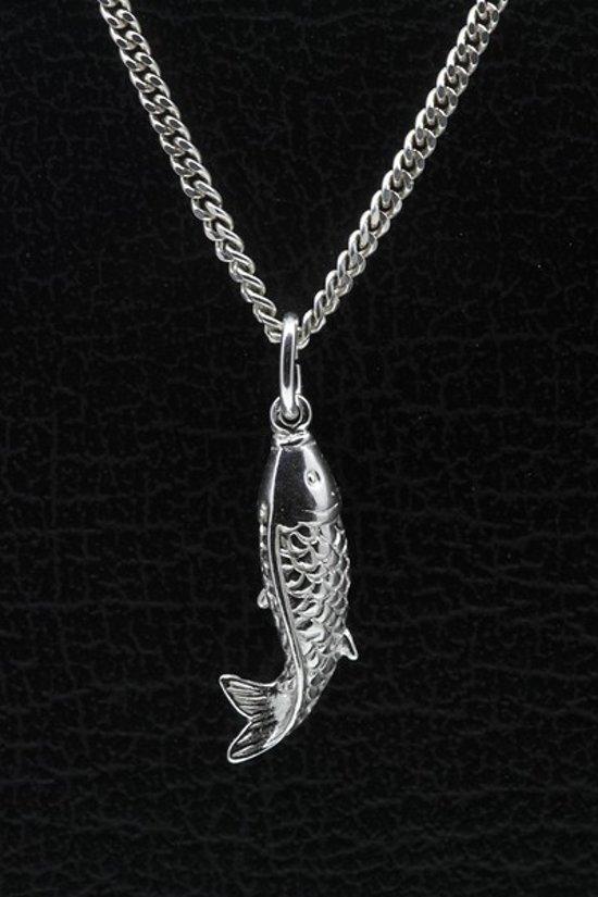 Zilveren Koi Karper ketting hanger