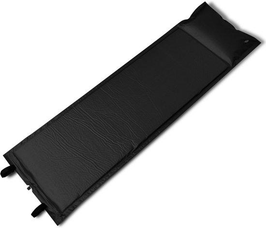 Slaapmat zelfopblazend - zwart - 185 x 55 x 3 cm (enkel)