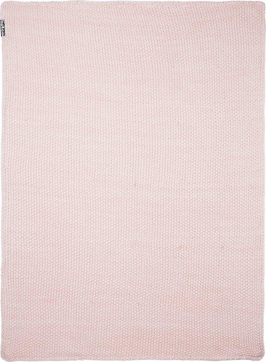 Meyco ledikantdeken Relief Mixed  met velvet - 100x150 cm - roze