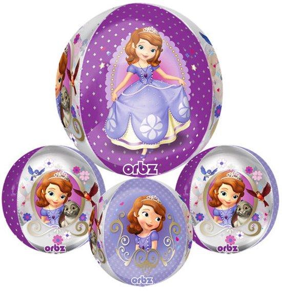 Sofia het prinsesje plastic bubble ballon (rond)
