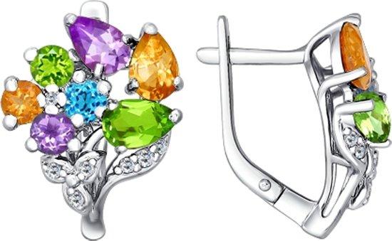 SOKOLOV Jewelry Zilveren Oorbellen - Halfedelstenen