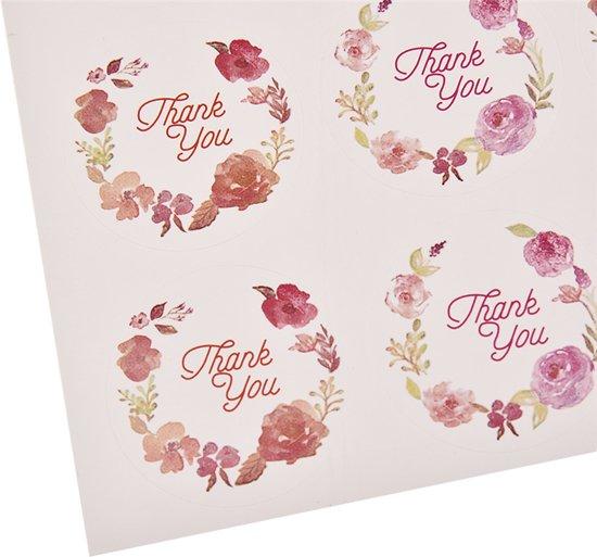Bolcom 120x Thank You Sticker Bedankt Sticker Kaart