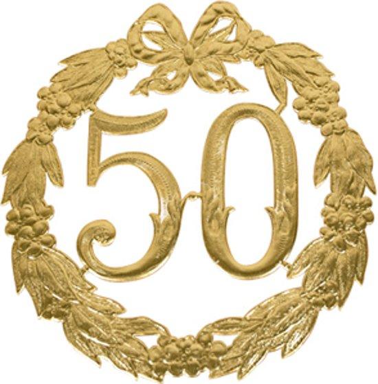 50 jaar jubileum goud bol.| Jubileum cijfer 50 jaar, Merkloos | Speelgoed 50 jaar jubileum goud