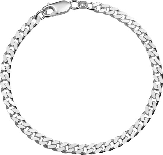 The Jewelry Collection For Men Armband Geslepen Gourmet 4,0 mm - Zilver